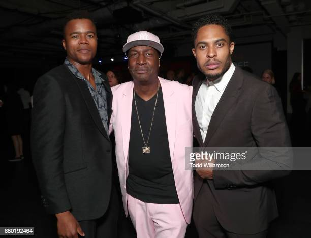 Marque Richardson Grandmaster Flash and Brandon P Bell attend the Netflix FYSEE KickOff Event at Netflix FYSee Space on May 7 2017 in Beverly Hills...