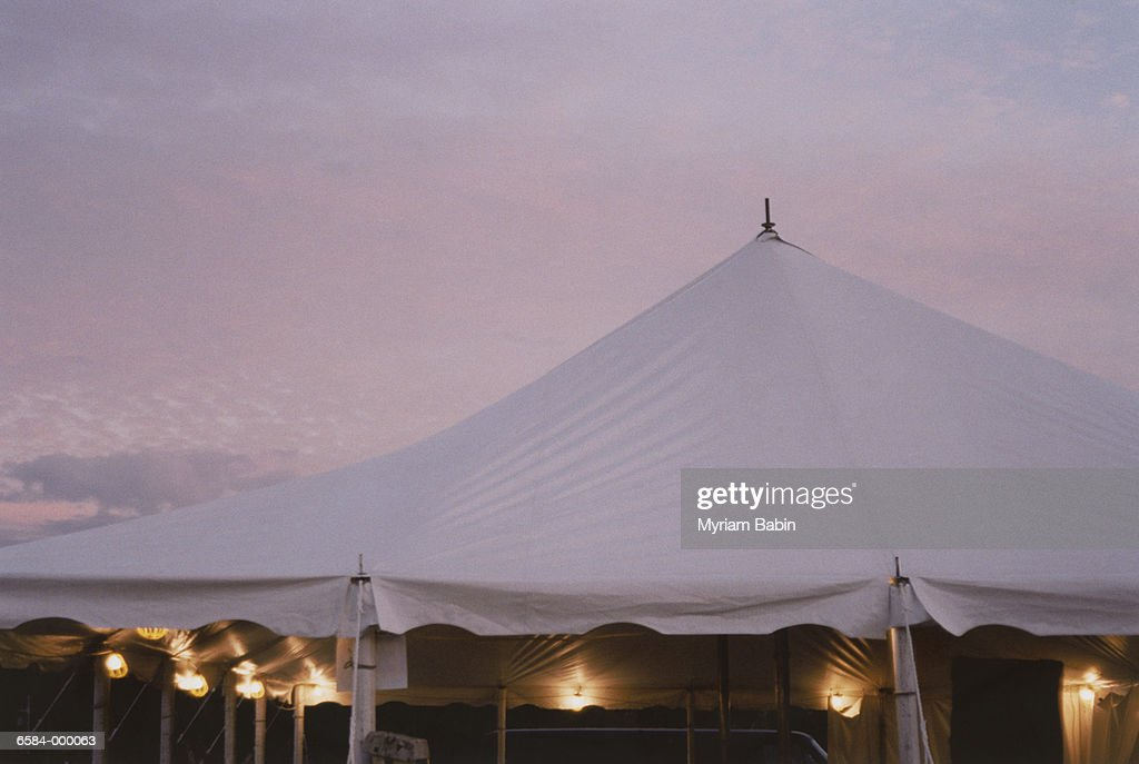 Marquee at Sunset : Stock Photo
