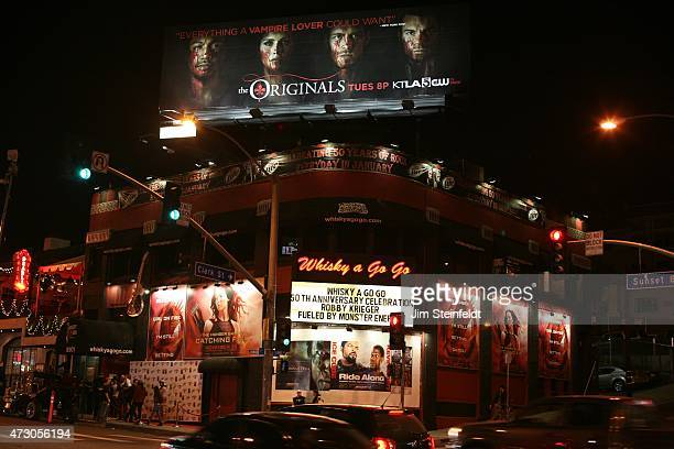 Marquee for guitarist Robby Krieger of the rock band The Doors at the Whisky a Go Go in Los Angeles California on January 16 2014