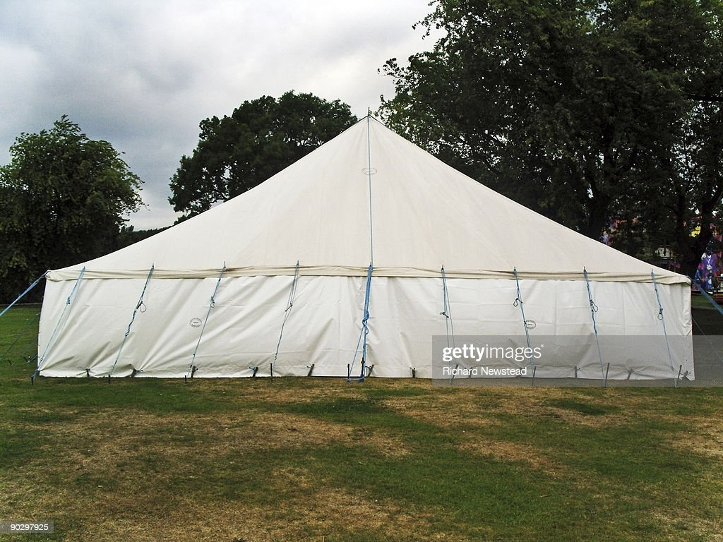 Marquee in a park : Stock Photo