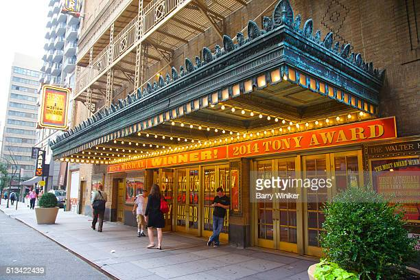 Marquee in front of landmark Broadway theatre