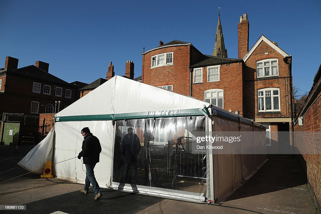 A marquee sits over the spot where the remains of King Richard III were found in a car park on February 4, 2013 in Leicester, England. The University of Leicester has been carrying out scientific investigations on remains found in the car park in Leicester to find out whether they are those of King Richard III since last September, when the skeleton was discovered in the foundations of Greyfriars Church, Leicester. King's Richard III's remains are to be re-intered at Leicester Catherdral.