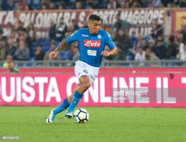 Marques Allan during the Italian Serie A football match between AS Roma and SSC Napoli at the Olympic Stadium in Rome on october 14 2017