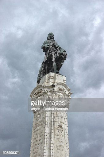 Marques Do Pombal Statue in Lisbon : Foto de stock