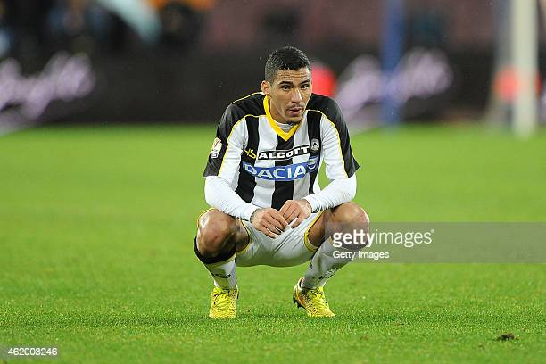 Marques Loureiro Allan during the TIM Cup match between SSC Napoli and Udinese Calcio at Stadio San Paolo on January 22 2015 in Naples Italy