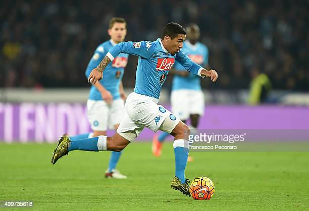 Marques Loureiro Allan of Napoli in action during the Serie A match between SSC Napoli and FC Internazionale Milano at Stadio San Paolo on November...