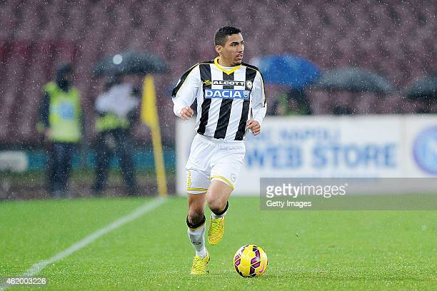 Marques Loureiro Allan of Udinese in action during the TIM CUP match between SSC Napoli and Udinese Calcio at the San Paolo Stadium on January 22...