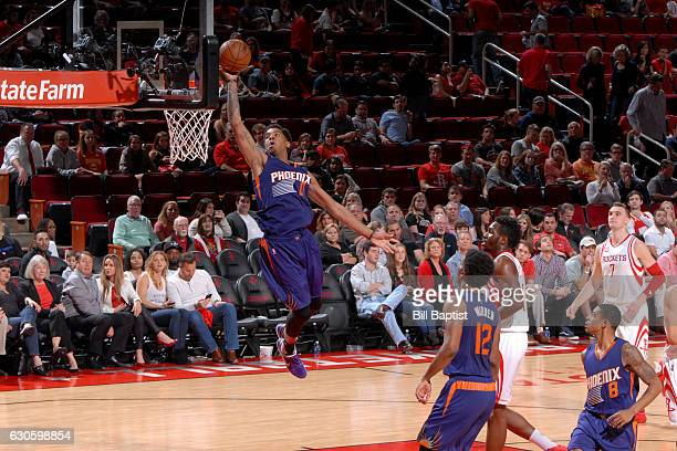 Marquese Chriss of the Phoenix Suns goes for the lay up during the game against the Houston Rockets on December 26 2016 at the Toyota Center in...