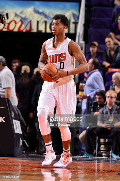 Marquese Chriss of the Phoenix Suns handles the ball against the Indiana Pacers on December 7 2016 at Talking Stick Resort Arena in Phoenix Arizona...