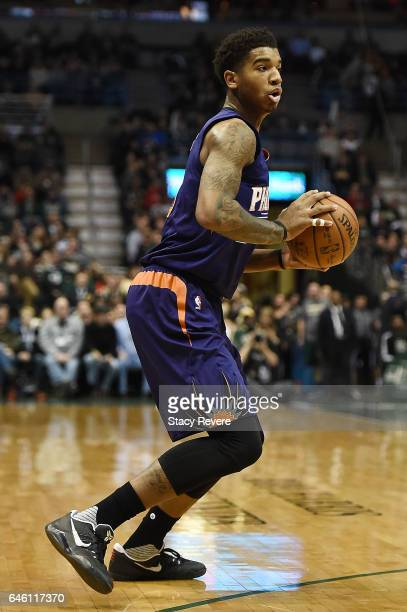 Marquese Chriss of the Phoenix Suns handles the ball during a game against the Milwaukee Bucks at the BMO Harris Bradley Center on February 26 2017...