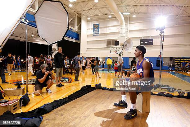 Marquese Chriss of the Phoenix Suns poses for a portrait during the 2016 NBA rookie photo shoot on August 7 2016 at the Madison Square Garden...