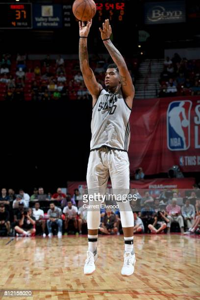 Marquese Chriss of the Phoenix Suns shoots the ball against the Houston Rockets on July 10 2017 at the Thomas Mack Center in Las Vegas Nevada NOTE TO...