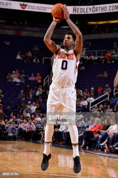 Marquese Chriss of the Phoenix Suns shoots the ball against the Utah Jazz on October 9 2017 at Talking Stick Resort Arena in Phoenix Arizona NOTE TO...