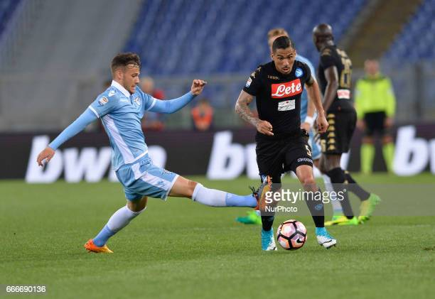 Marquez Allan during the Italian Serie A football match between SS Lazio and AC Napoli at the Olympic Stadium in Rome on april 09 2017