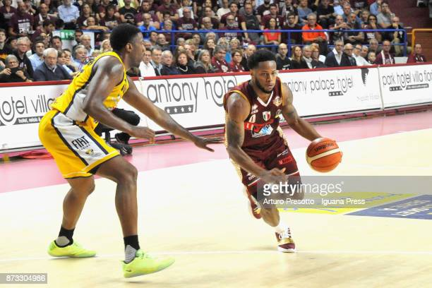 MarQuez Haynes of Umana competes with Lamar Patterson during the LBA LegaBasket of Serie A match between Reyer Umana Venezia and Auxilium Fiat Torino...
