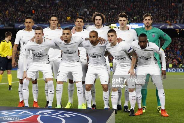 Marquinhos of Paris SaintGermain Thiago Motta of Paris SaintGermain Thiago Silva of Paris SaintGermain Adrien Rabiot of Paris SaintGermain Thomas...