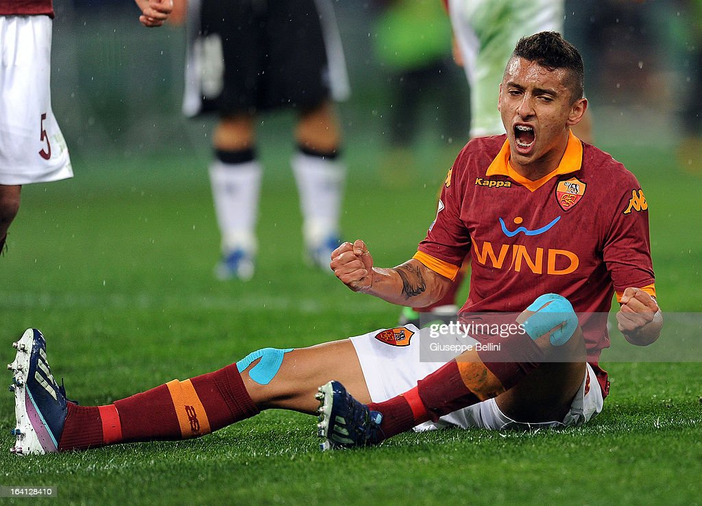 Marquinhos of Roma during the Serie A match between AS Roma and Parma FC at Stadio Olimpico on March 17, 2013 in Rome, Italy.