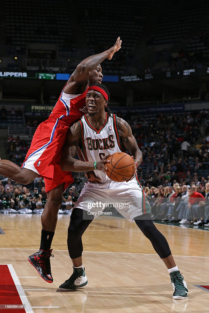 <a gi-track='captionPersonalityLinkClicked' href=/galleries/search?phrase=Marquis+Daniels&family=editorial&specificpeople=202465 ng-click='$event.stopPropagation()'>Marquis Daniels</a> #6 of the Milwaukee Bucks goes to the basket against the Los Angeles Clippers on December 15, 2012 at the BMO Harris Bradley Center in Milwaukee, Wisconsin.