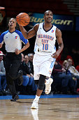 Marquis Teague of the Oklahoma City Blue dribbles the ball against the Bakersfield Jam during an NBA DLeague game on December 1 2014 at the Cox...