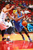 Marquis Teague of the Oklahoma City Blue drives to the basket against the Iowa Energy in an NBA DLeague game on January 31 2015 at the Wells Fargo...