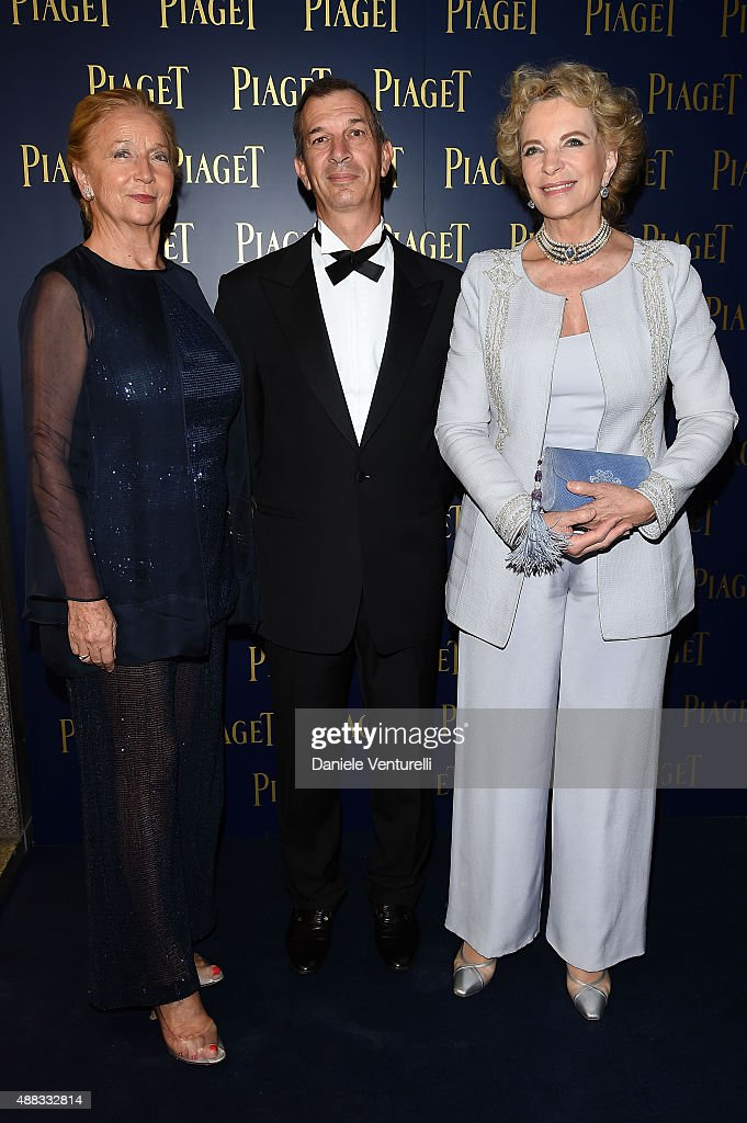 Marquise Barbara Berlingeri, Philippe Leopold Metzger and Princess Marie Christine Michael of Kent attends PIAGET Opening Milan on September 15, 2015 in Milan, Italy.