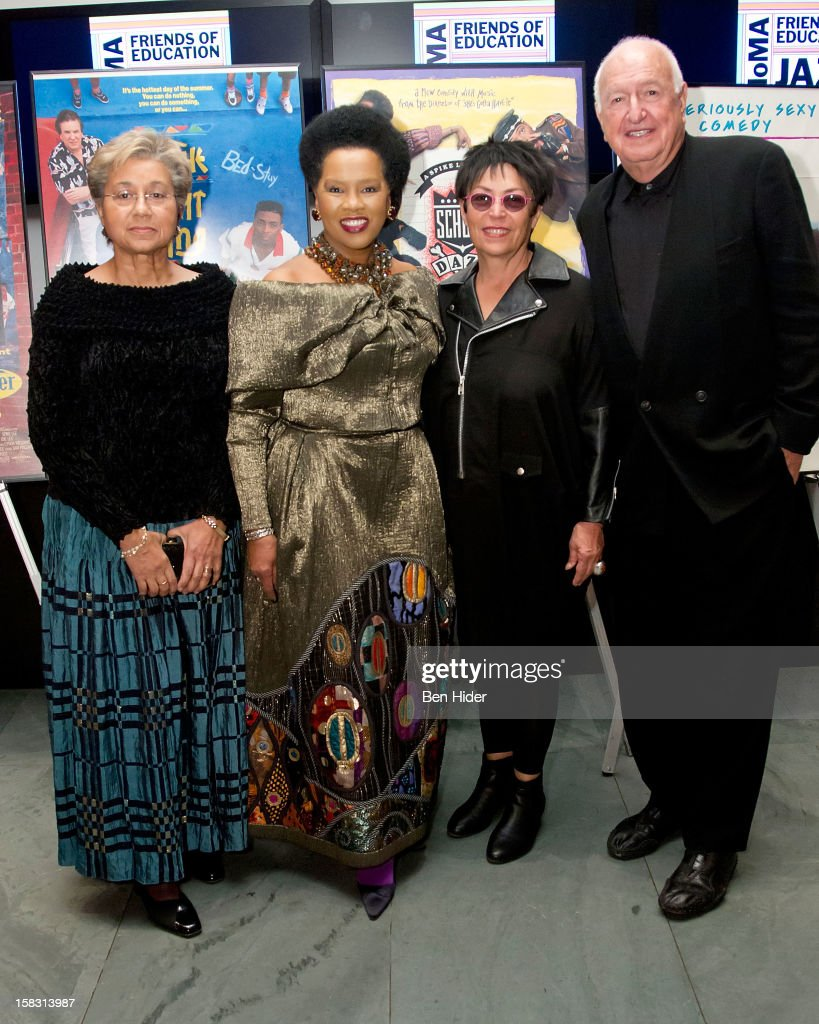 Marquita Poole Eckert, Sherry Bronfman, Mera Rubell and Donald Rubell attend The Museum of Modern Art's Jazz Interlude Gala at MOMA on December 12, 2012 in New York City.