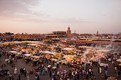 Marrakech Djemaa el Fna at Dusk