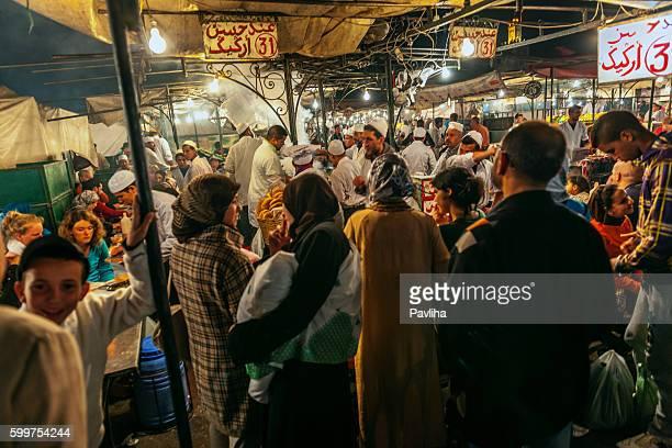 Marrakech, Djemma El Fan Square, Night Street Market, Morocco