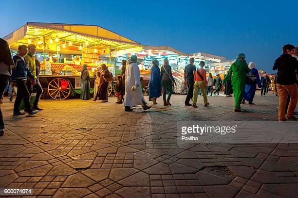 Marrakesch, Jemaa El Fan Square, Night Street Market, Marokko