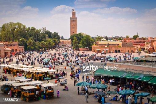 Marrakech market square