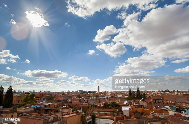 Marrakesh cityscape and clouds