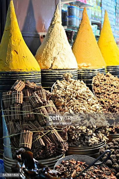 Marrakesh Djemaa el Fna market spices, Morocco