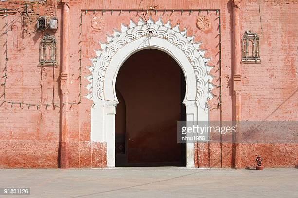 Marrakesh medina decorated gate