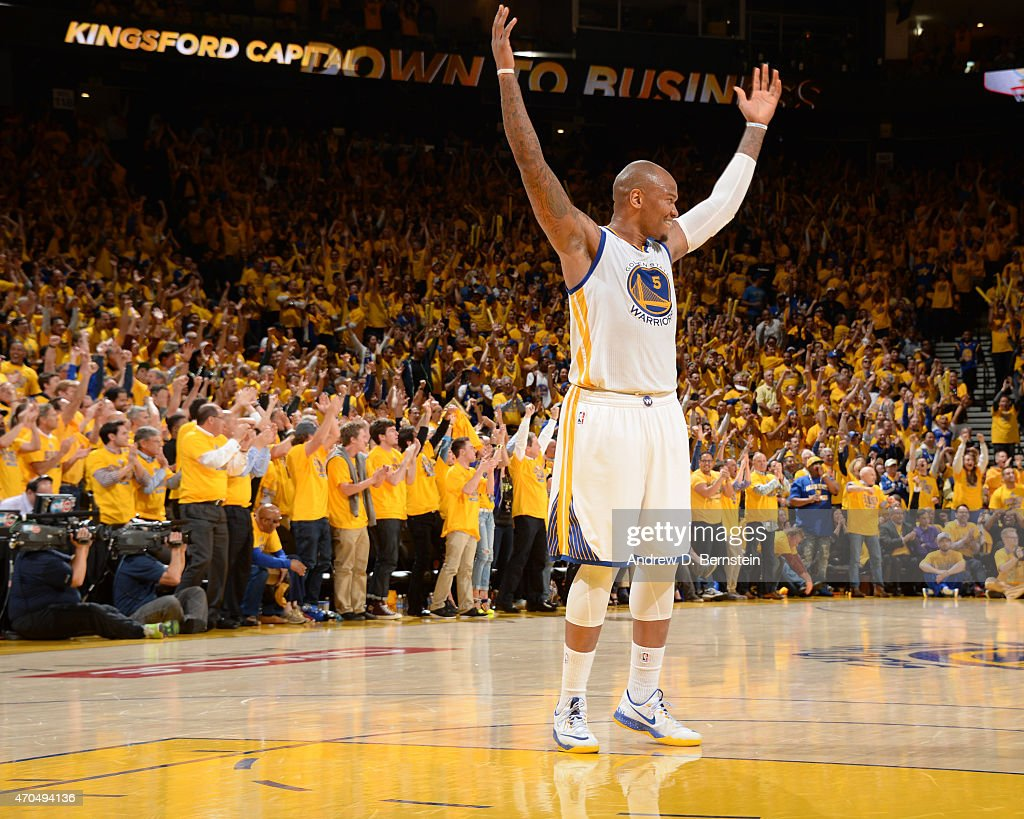 Marreese Speights of the Golden State Warriors during the game against the New Orleans Pelicans during Game Two of the Western Conference...