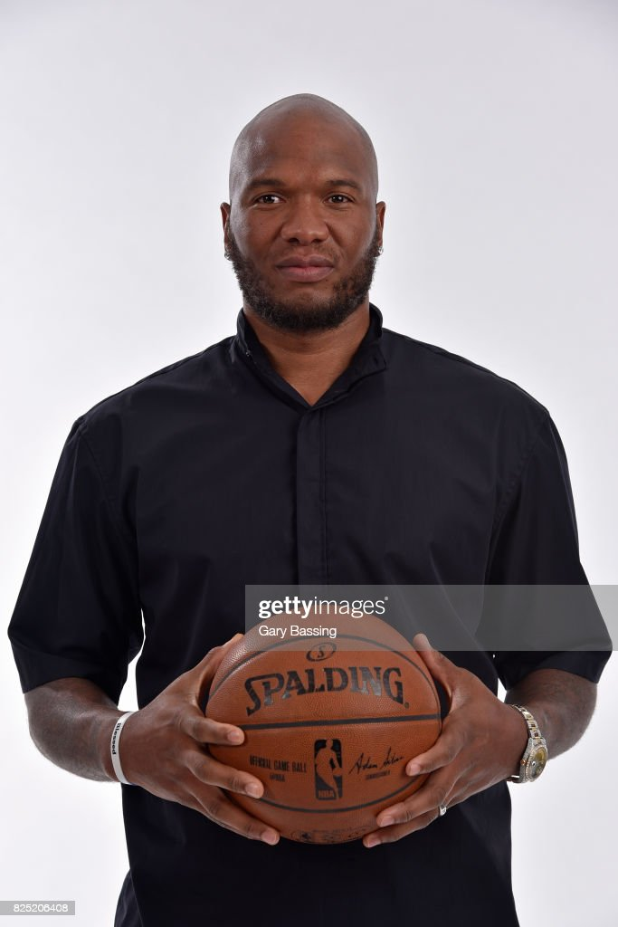 Marreese Speights of the Orlando Magic poses for a portrait on July 27, 2017 at Amway Center in Orlando, Florida.