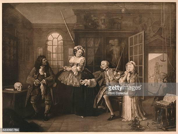 3 The Inspection' from 'William Hogarth' by Austin Dobson 1904 The nobleman is in the house of Dr Misaubin no 96 St Martin's Lane He threatens the...