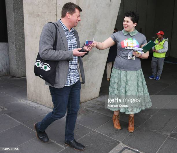 Marriage equality advocate Connor BorchardBurns starts their campaign to rally the public after the High Court delivered their n favour of having a...