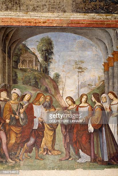 Marriage of Cecilia and Valerian by Francesco Francia fresco Oratory of Santa Cecilia Bologna EmiliaRomagna Italy 16th century