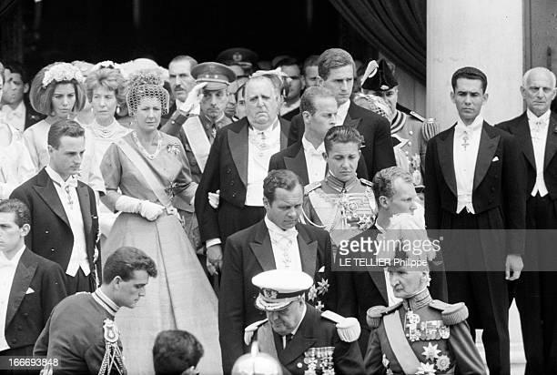 Marriage Of Don Juan Carlos De Bourbon Y Bourbon Heir Of The Crown Of Spain And Sophie SchleswigHolstein Princess Of Greece En Grèce à Athènes le 14...
