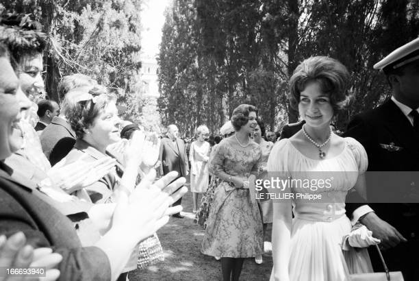 Marriage Of Don Juan Carlos De Bourbon Y Bourbon Heir Of The Crown Of Spain And Sophie SchleswigHolstein Princess Of Greece En Grèce à Athènes le 14...