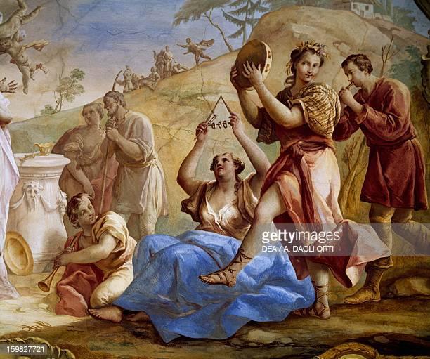 Marriage of lovers Jacopo Guarana fresco Villa Contarini Rota Piva Cinto Euganeo Veneto Detail Italy 18th century