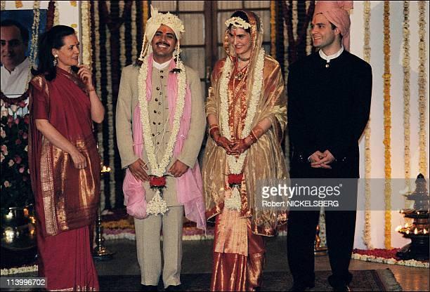 Marriage of Priyanka Gandhi In New Delhi India On February 18 1997