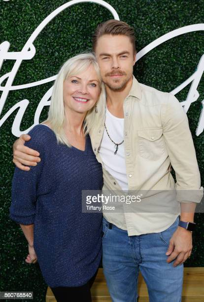 Marriann Nelson and son Derek Hough host Paint Sip Help event to Benefit Children's Hospital Los Angeles at The Grove on October 12 2017 in Los...