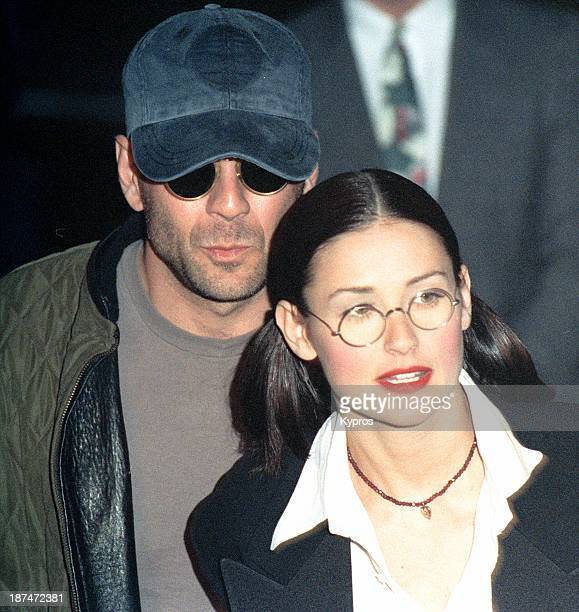 Married actors Bruce Willis and Demi Moore circa 1990