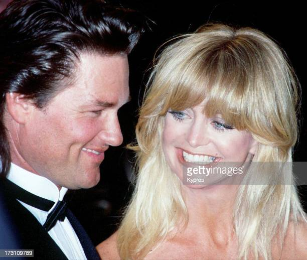 Married actors Goldie Hawn and Kurt Russell circa 1991