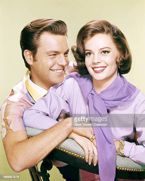 Married American actors Robert Wagner and Natalie Wood circa 1957