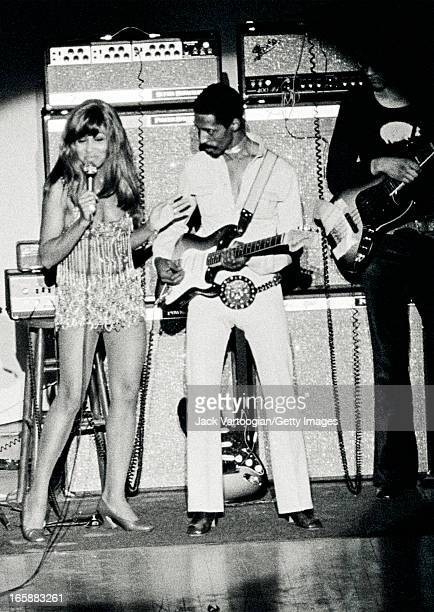 Married American musician Ike and Tina Turner perform onstage at Carnegie Hall New York New York April 1 1971