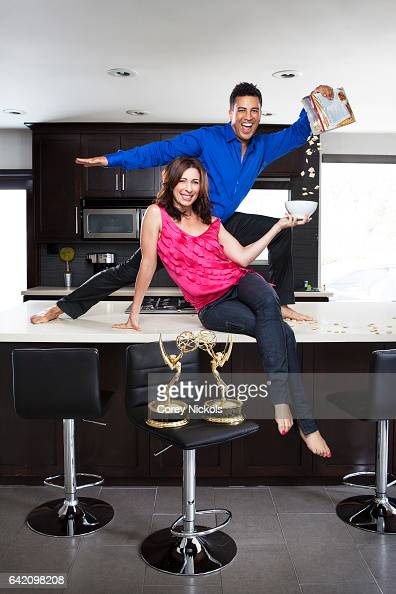 Married choreographers Tabitha A D'umo Napoleon D'umo known together as Nappytabs are photographed for Emmy Magazine on June 7 2013 in Sherman Oaks...