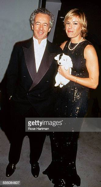 Married couple French fashion photographer Gilles and American model and editor Kelly Bensimon attend a fashion party at the Pierre Hotel New York...