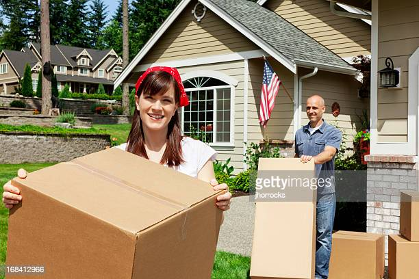 Married Couple on Moving Day